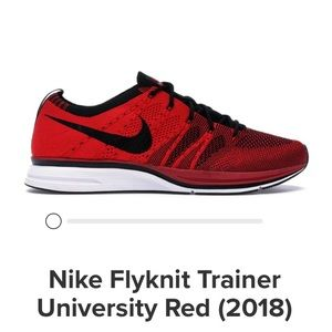 Nike flyknit trainer red and black size 10